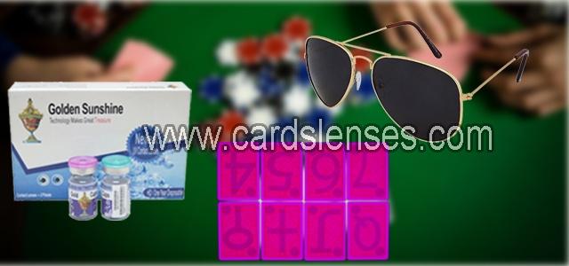 lentes de contato e oculos de sol luminosos tinta invisivel para baralho marcado